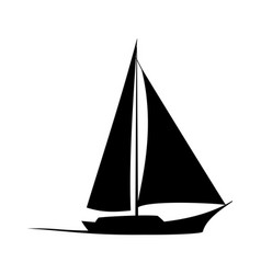 sailboat icon concept for design vector image