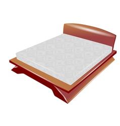 Sleep bed vector