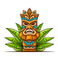 tiki traditional hawaiian vector image