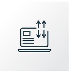 traffic conversion icon line symbol premium vector image