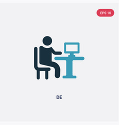 Two color de icon from people skills concept vector