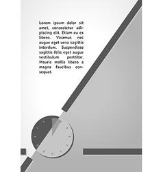 watch symbol dark infographics vector image