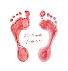 Watercolor children foots vector