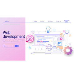 web development modern flat design concept mobile vector image