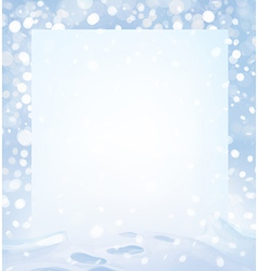 Winter page vector