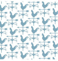 background pattern with rooster weather vane vector image vector image