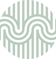 letter line s alphabet design vector image