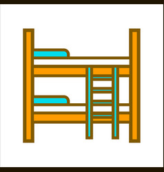 two tier wooden bed vector image