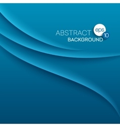 Abstract modern background with blue waves vector image vector image