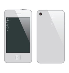 abstract phone symbol white color vector image