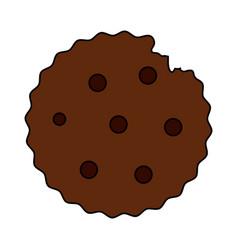 color image cartoon cookie snack food vector image