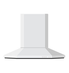 Hood kitchen air vent flat design vector