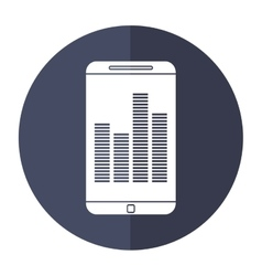 smartphone screen equalizer music shadow vector image