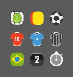 Soccer match icons Flat design vector image vector image