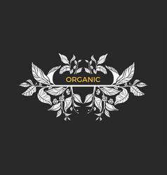 symbol organic vector image vector image