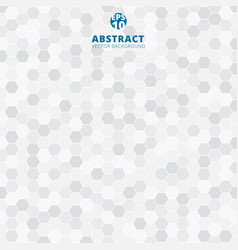 abstract hexagon pattern white and gray color vector image