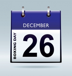 boxing day calendar blue vector image