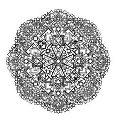 contour monochrome mandala ethnic religious vector image vector image