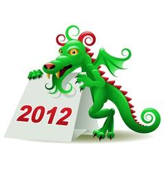 dragon calendar vector image vector image
