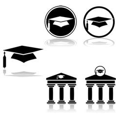 Graduation icons vector