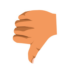 Human thumb down sign of nonverbal communication vector