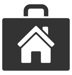 Realty Case Flat Icon vector image vector image