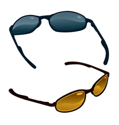 two pairs of sunglasses vector image vector image