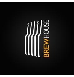 beer glass bottle design background vector image