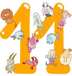 number eleven vector image