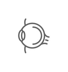 simple eye line icon symbol and sign vector image