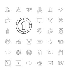 33 success icons vector
