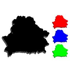 3d map of belarus vector