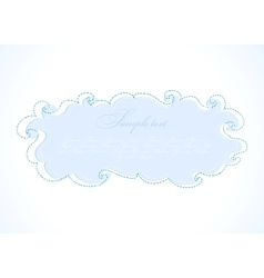 Abstract blue cloud frame vector image vector image