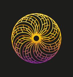 Abstract logo design template sun and vector