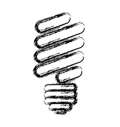 Abstract sketch of fluorescent light bulb vector