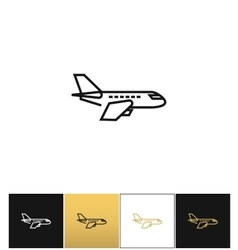 air plane pictograph jet or aeroplane icon vector image