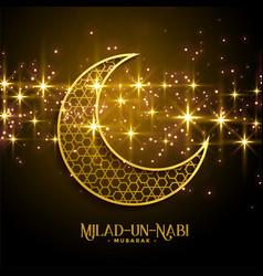 beautiful milad un nabi sparkles background design vector image