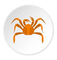 Big crab icon circle vector