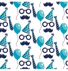 Birthday pattern background vector
