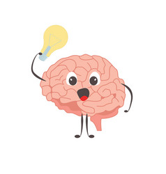 brain charactersathlete idea exercises and vector image