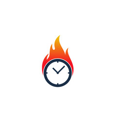 burn time logo icon design vector image