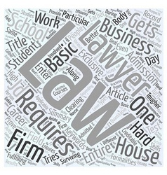 Business laws basics Word Cloud Concept vector