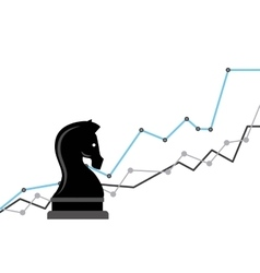Chess horse strategy business vector