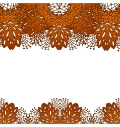 chocolate flower lace pattern vector image