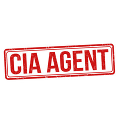 cia agent grunge rubber stamp vector image