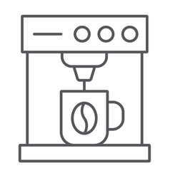 coffee machine thin line icon coffee and vector image