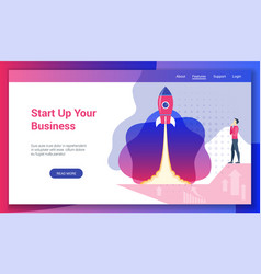 concept on business start theme2 vector image