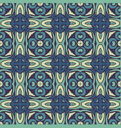 damask mosaic seamless tiles design vector image
