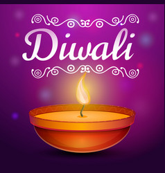 Diwali concept background cartoon style vector