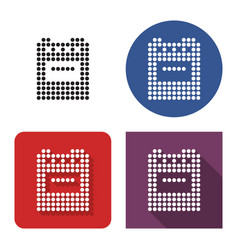 Dotted icon cooker in four variants with short vector